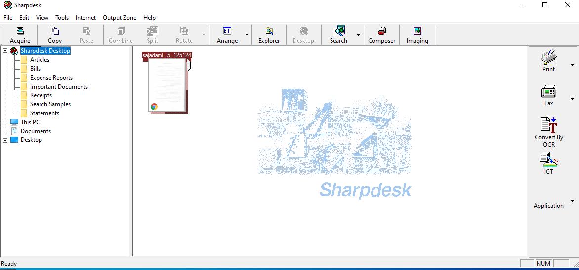 دانلود نرم افزار شارپ دسک، اسکنر دستگاه های شارپ برای کامپیوتر به همراه کد فعال ساز SharpDesk